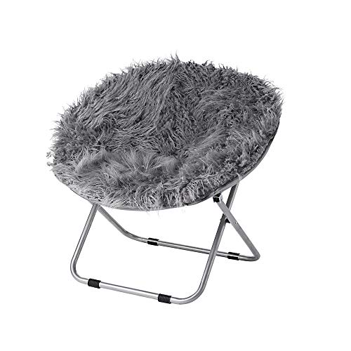 Fur Moon Chair - Dark Gray