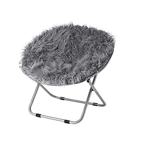 Fur Moon Chair – Dark Gray