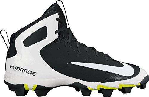 new arrive 75a10 c2a5f Nike Mens Alfa Huarache Keystone Mitten Baseball Cleat Svart   Vit   Wolf  Grå