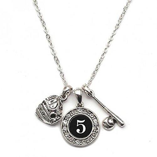 Custom Player ID Softball Necklace (#5, One - Necklace Baseball 30