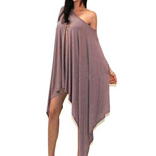 Leezeshaw - Vestido - para mujer albaricoque