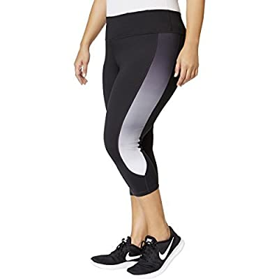 Ideology Womens Plus Fitted Cropped Athletic Leggings Black 2X