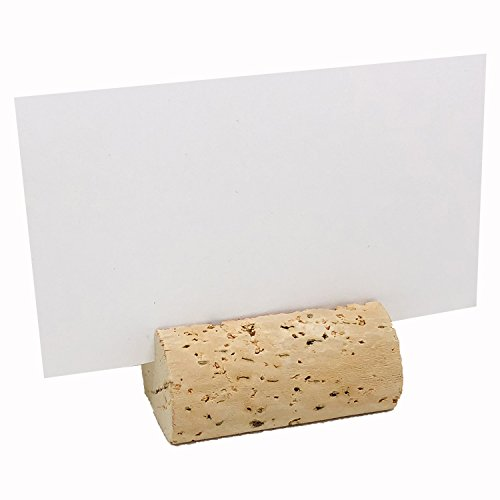 EMazing Goods Wine Cork Place Card Holders Custom Cork Card Holders Blank Natural set of 25 Includes Place Cards Escort Card Rustic Wine Cork Table Décor Wine Theme Vineyard Wedding Cork Placecard