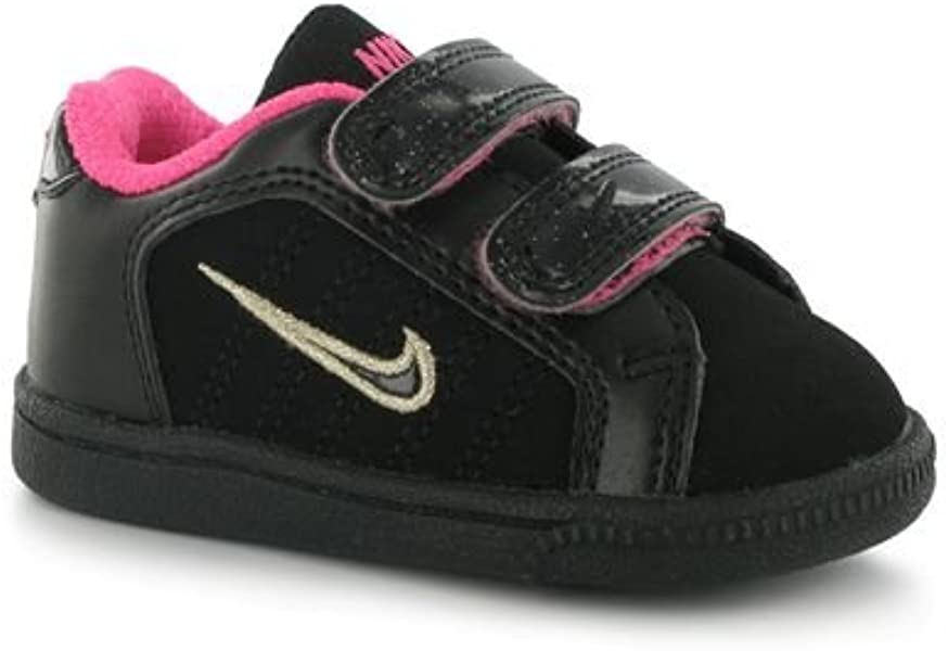 b3bba1d243 NIKE Court Tradition 2 Plus Girls Infant Trainers - Black (408079 001) (8 UK  Child): Amazon.co.uk: Shoes & Bags