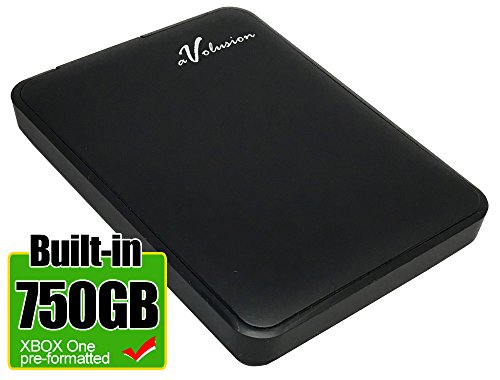 Avolusion 750GB USB 3.0 Portable External XBOX One Hard Drive (XBOX One Pre-Formatted) HD250U3-Z1 - w/2 Year Warranty