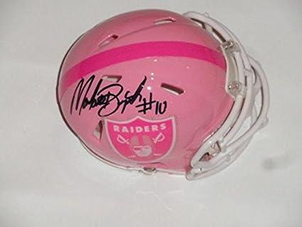 892100bc6 Martavis Bryant Autographed Mini Helmet - Oakland Raiders Pink Breast  Cancer Proof - Autographed NFL Mini