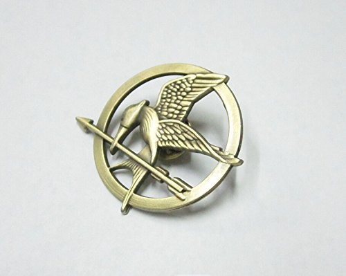 Mimiki Hunger Games Movie Mockingjay Prop Rep Pin Metal]()
