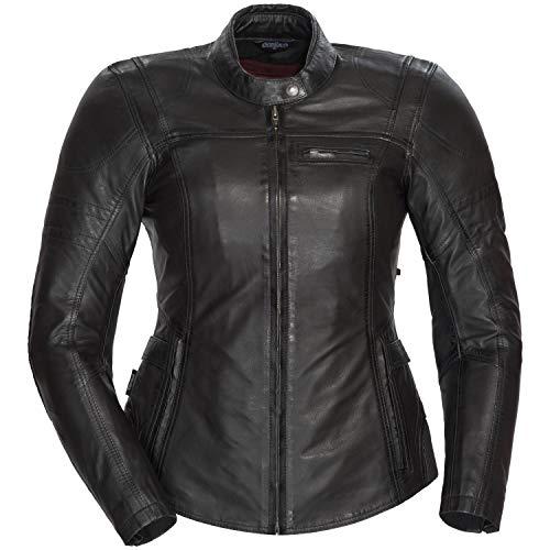Cortech Women's Bella Leather Motorcycle Jacket (Black, Medium) ()