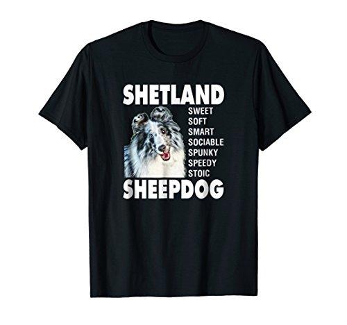 (Shetland Sheepdog Sheltie T-Shirt Blue Merle Bi-Blue Sheltie)