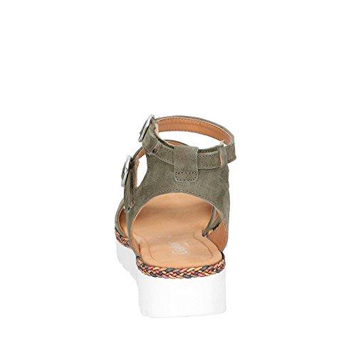 Gabor Damen Sandalette Oliv (fl.multi)