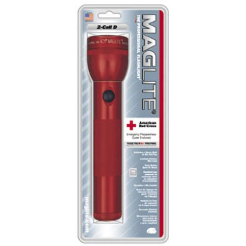Cell Red Flashlight - Maglite Heavy-Duty Incandescent 2-Cell D Flashlight, Red