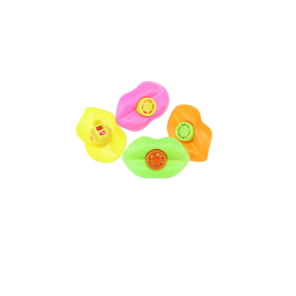 1 pc Plastic Lip Whistles Noise-making Blowing Whistles Mouth Lip Whistles Christmas Party Toy Supplies Gift Toys