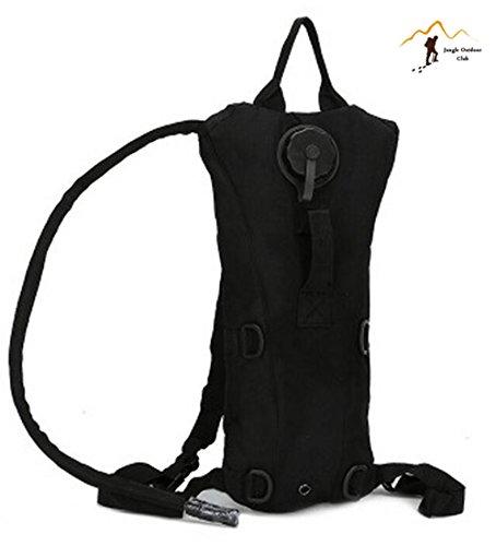Jungle Oxford einteiligen Düse Wasser Rucksack Tasche MOLLE TACTICAL Taschen Wild Tasche Wandern Klettern Radfahren Runner Rucksack, Schwarz