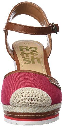 Refresh Damen 64426 Geschlossene Sandalen Rot (Rojo)