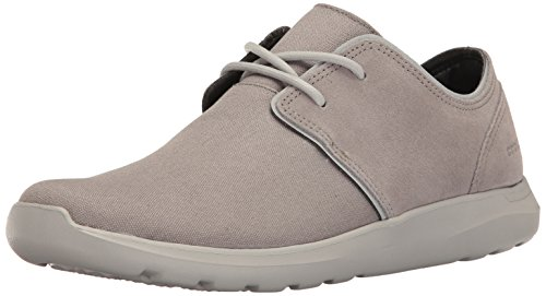 Crocs Men's Kinsale 2-Eye Shoe M Fashion Sneaker, Charcoal/Pearl White, 12 M US