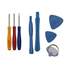 Fosmon 8 pc Tool Kit (Includes 5-Point Pentalobe Screwdriver) for Apple iPhone 4 / 4S / 5 / 5S / 6 & 6 Plus / 6S & 6S Plus