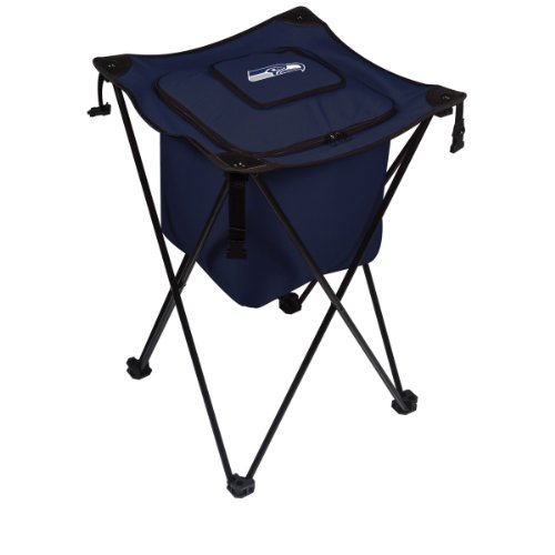 NFL Seattle Seahawks Sidekick Insulated Portable Cooler with Integrated Legs, Navy ()