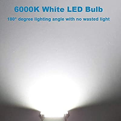 578 Led Bulb 211-2 Led Bulb 41mm 42mm 1.65in 212-2 Led Bulb for Car Map Light Dome Light, 22SMD 3014 Chips 6000k White Super Bright Interior Led Bulb,Pack of 4pcs: Automotive