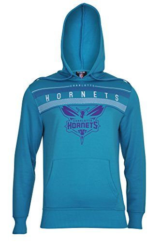 fan products of NBA Men's Charlotte Hornets Fleece Hoodie Pullover Sweatshirt Poly Midtown, Large, Teal
