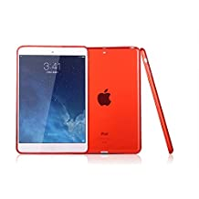 "Apple iPad Air 2 Case, iCoverCase Ultra-thin Gel Silicone Back Cover Clear Plain Soft TPU Gel Rubber Skin Case Protector Shell for Apple iPad Air 2 / iPad 6 (9.7"") (Red)"