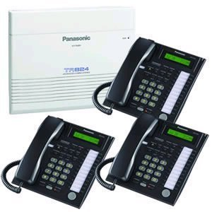 Panasonic KX-TA824 Telephone System & 3 KX-T7731 Black Telephones by Panasonic