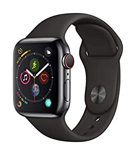 Apple Watch Series 4 (GPS + Cellular, 40mm) - Space Black Stainless Steel Case with Black Sport Band (B07J6SPFK5) | Amazon price tracker / tracking, Amazon price history charts, Amazon price watches, Amazon price drop alerts