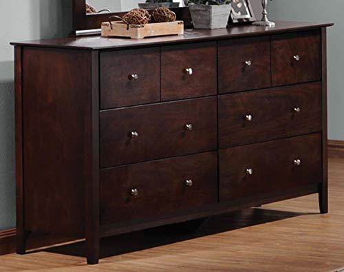 Tia 6-Drawer Dresser Cappuccino
