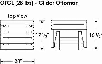 POLYWOOD OTGLWH Classic Adirondack Glider Ottoman, White