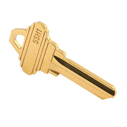 (Prime-Line MP66750 SC1 Key Blank, Brass Construction, for 5-Pin Schlage C Keyways, Pack of 50)