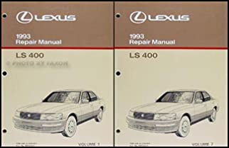 1993 lexus ls 400 repair shop manual original 2 volume set lexus