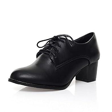 Amazon.com   Charm Foot Fashion Womens Oxfords Shoes Mid ...