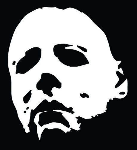 Michael Myers Halloween Vinyl Decal Sticker|Walls Cars Trucks Vans Laptops|White|5.5 In Tall|KCD722 (Halloween Stores Spirit)