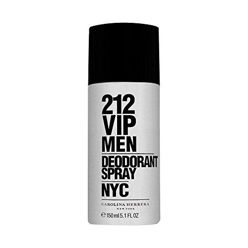 Men Deodorant 212 - Carolina Herrera 212 VIP Deodorant Spray for Men, 5 Ounce