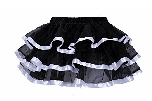 Lotsyle Mutli-Layer Tutu Ruffle Petticoat Skirt Corset Skirt-White 2XL - Mutli Apparel