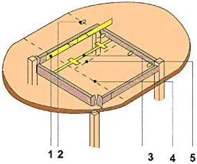 Diam/ètre ITAR 12 mm Charni/ère invisible cylindrique