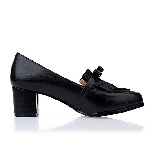 Black Heels Pull Pumps Shoes Womens Balamasa On High Solid q68paAxw