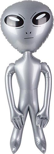 Rhode Island Novelty Outerspace Extra-Terrestrial Galaxy Silver Alien Inflatable -