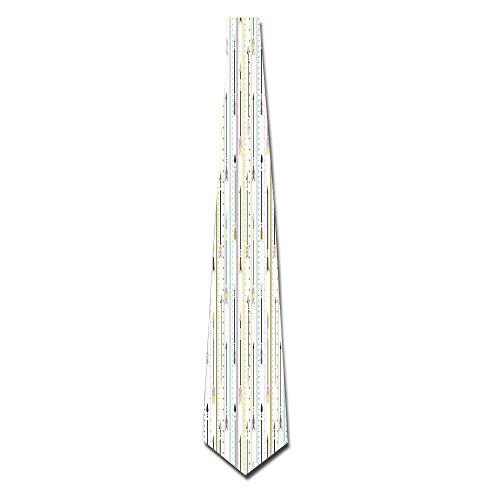 WuLion Geometric Pattern Colored Peak Borders Of Dots Arrows And Lines Art Men's Classic Silk Wide Tie Necktie (8 CM)