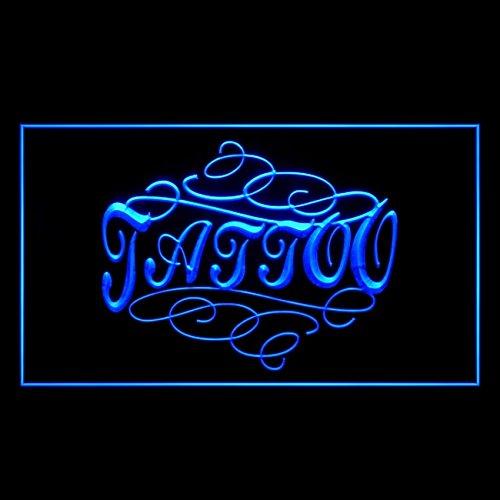 100102 Modern Tattoo Piercing Design Art Display LED Light Sign by Easesign