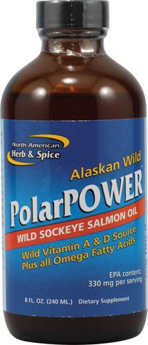 North American Herb & Spice PolarPowerT Wild Sockeye Salmon Oil -- 8 fl oz - 3PC by North American Herb & Spice
