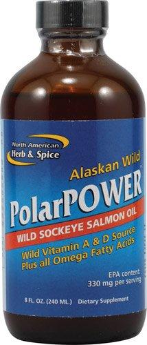 North American Herb & Spice PolarPowerT Wild Sockeye Salmon Oil -- 8 fl oz - 3PC
