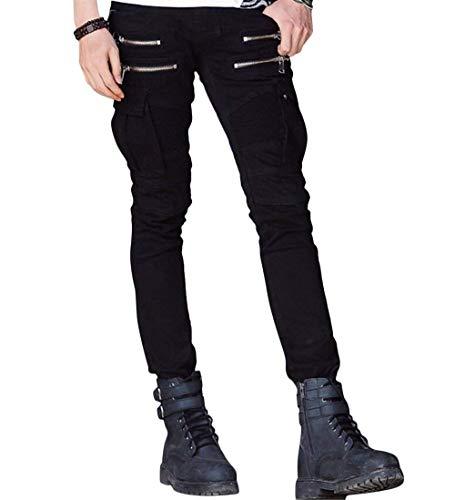 Con Balmainia Pantaloni Armeegrün R Cinturino Tasche Strappato Jeans Uomo Cerniera Chino Sulle Gambe A Giovane Pieghe Anaisy Blu Nero Da In Skinny Stretch Denim xXgwwzCq