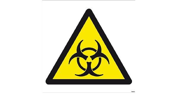 Biológica hazard símbolo chapa impresión de alta calidad y ...