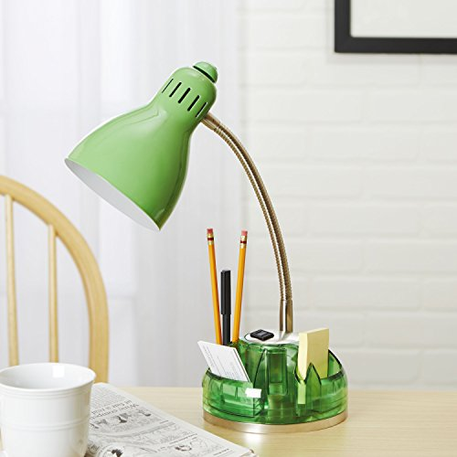 Swivel Organizer Desk lamp - Green (Green Painted Base)