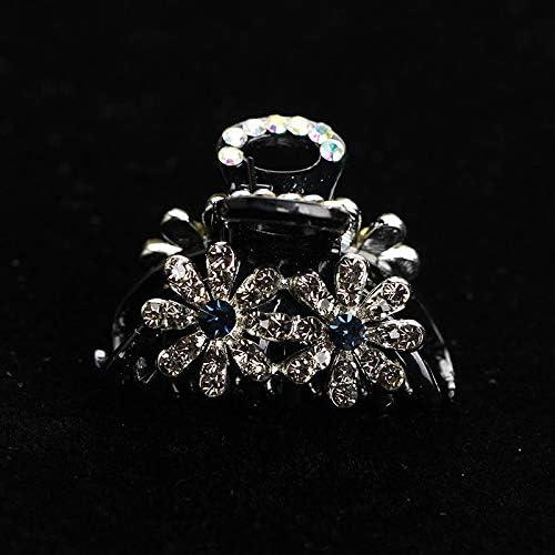 Horquilla de Perlas Retro pequeño número de Corea Pinza Tocado de Corea Accesorios for el Cabello de Diamantes Broche Clip de la Parte Superior for el Cabello Accesorios for el Cabello cl