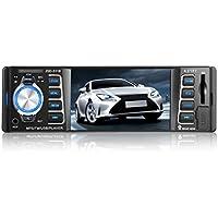 Car Radio LESHP Bluetooth Vehicle Radio Stereo Receiver Single DIN Vedio Player with USB SD 12V