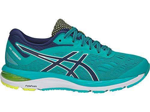 ASICS Women's Gel-Cumulus 20 Running Shoes, 11M, SEA Glass/Indigo Blue