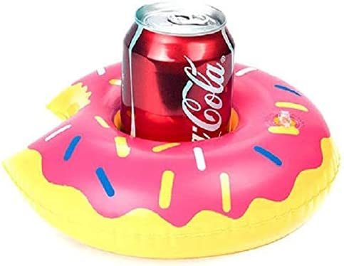 9PCS Mini Donut Inflatable Floating Drink Cup Holder Pool Be
