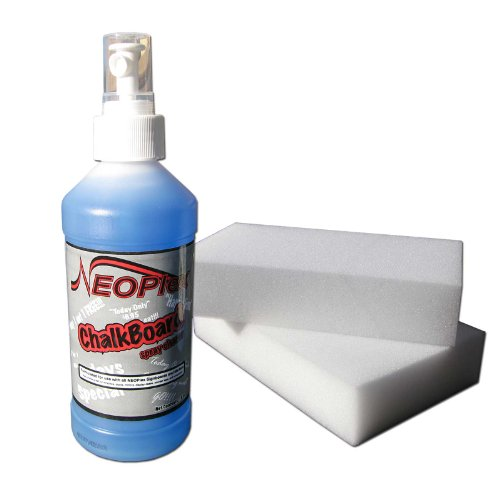 """NEOPlex """"Chalkboard Cleaner Combo Pack"""" - Includes Two NEOPlex Magic Eraser Sponges and One Bottle of NEOPlex Chalkboard Cleaner"""