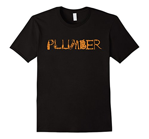 Funny Plumber Costume - Mens Halloween Plumber Funny T-shirt Plumber Costume 3XL Black